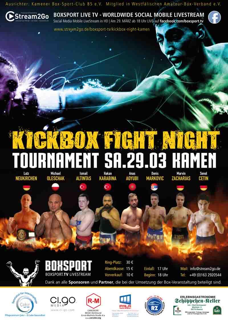 Kickbox Fight Night Tournament